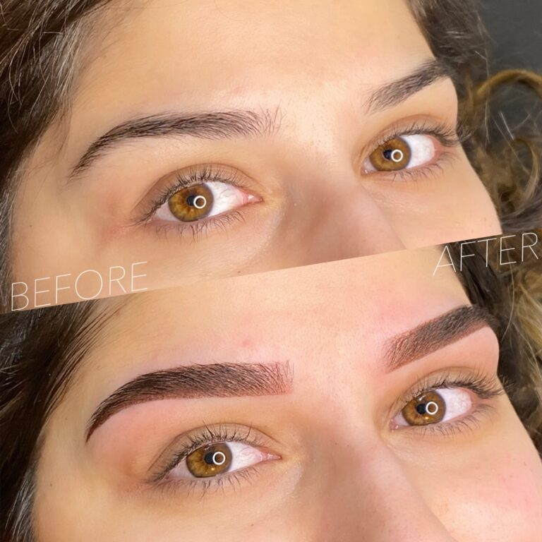 Powdered Brows Before And After 1